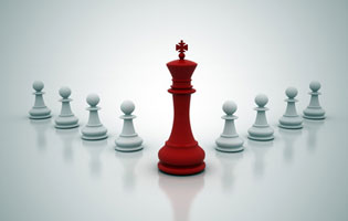 Right image - management and leadership approach